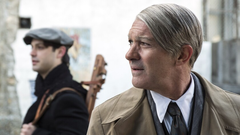 "Alex Rich and Antonio Banderas in ""Genius - Picasso"" on National Geographic."