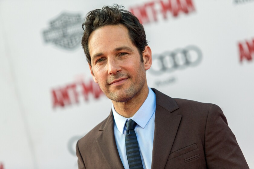 """Paul Rudd attends the world premiere of """"Ant-Man"""" at the Dolby Theatre on June 29, 2015, in Los Angeles."""