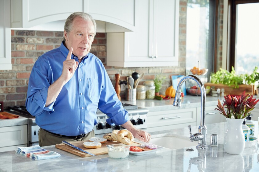 """Host Michael McKean talking about bagels and lox, as seen on Cooking Channel'€™s """"Food: Fact or Fiction?,"""" Season 2."""