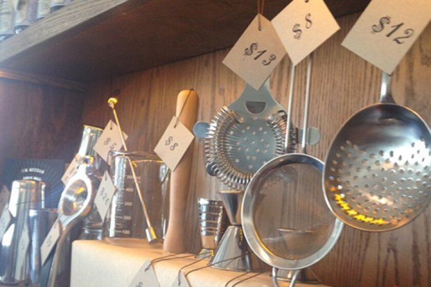 Shakers, muddlers and strainers are now for sale at Polite Provisions.
