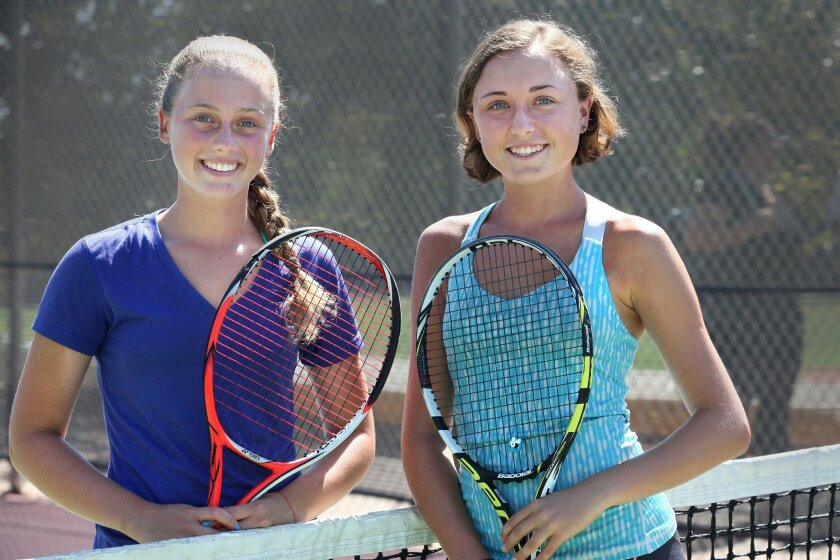 In their fourth seasons as members of the varsity, Agos Waisfeld (left) and Tasia Mochernak will serve as team captains this fall for Torrey Pines.