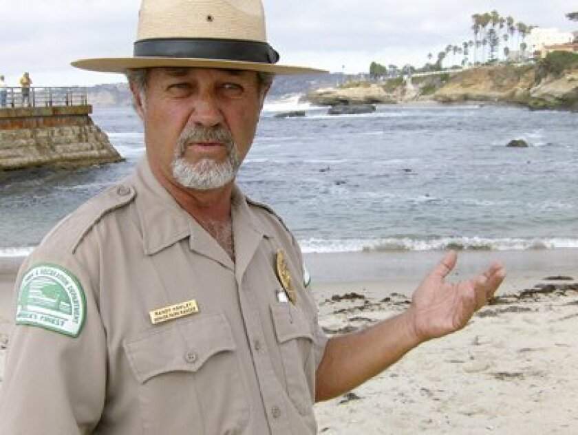 Interim ranger Randy Hawley on duty during a recent Saturday. Photo: Dave Schwab
