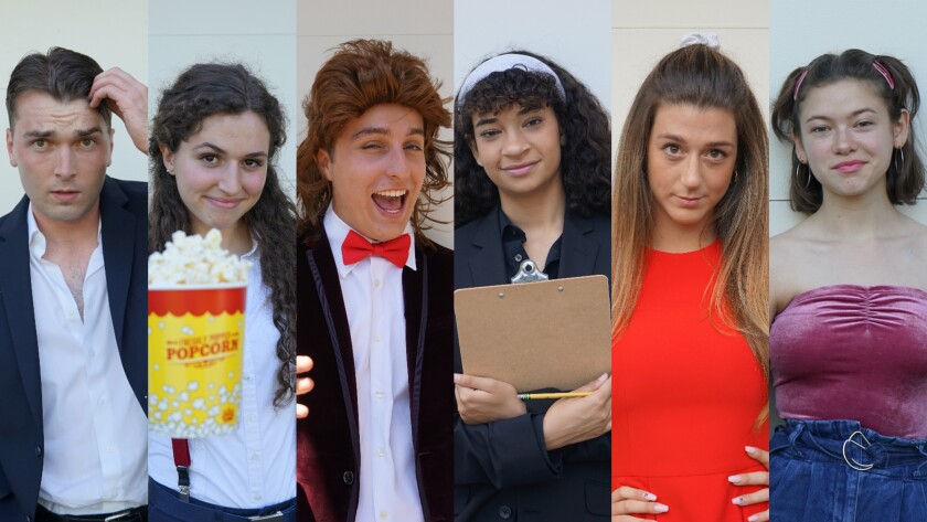 "The cast of ""No Distractions,"" (L to R) is Phillip Magin, Magenta Rose Brown, Dillon Siry, Shireen Heidari, Julia Vanderwiel, Isabella Salle."