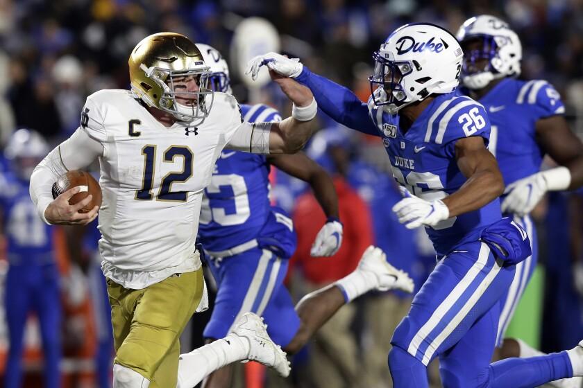 Notre Dame Duke Football