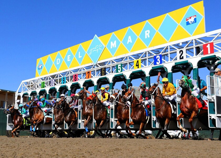 They'll be off and running at 2 p.m. Friday, July 15 for opening day of Del Mar Thoroughbred Club's 2016 racing season at the Del Mar racetrack.