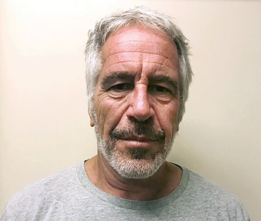 FILE - This March 28, 2017, file photo, provided by the New York State Sex Offender Registry, shows Jeffrey Epstein. Attorney Bennet Moskowitz, a lawyer for Jeffrey Epstein's estate said Wednesday, Dec. 11, 2019, that he is disappointed that women who say the financier sexually attacked them aren't suspending lawsuits to join a special compensation fund, but an attorney for one woman says lawsuits are the better route, at least for now. (New York State Sex Offender Registry via AP, File)