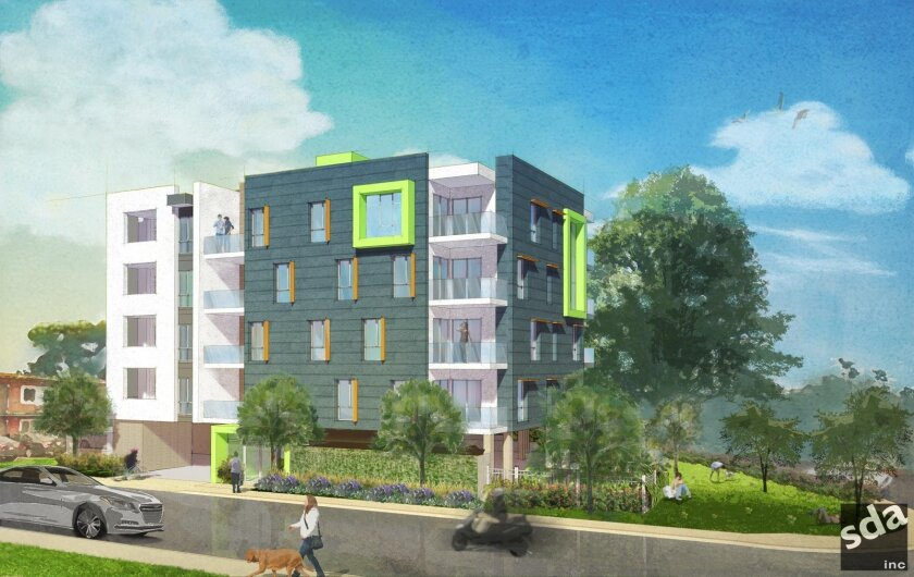 Rendering of the Crest Urban Apartments project in Hillcrest