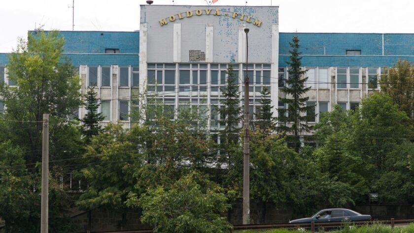 The entrance to Moldova-Film, sat in Chisinau's hilltop Telecentru neighborhood. The studio is a s