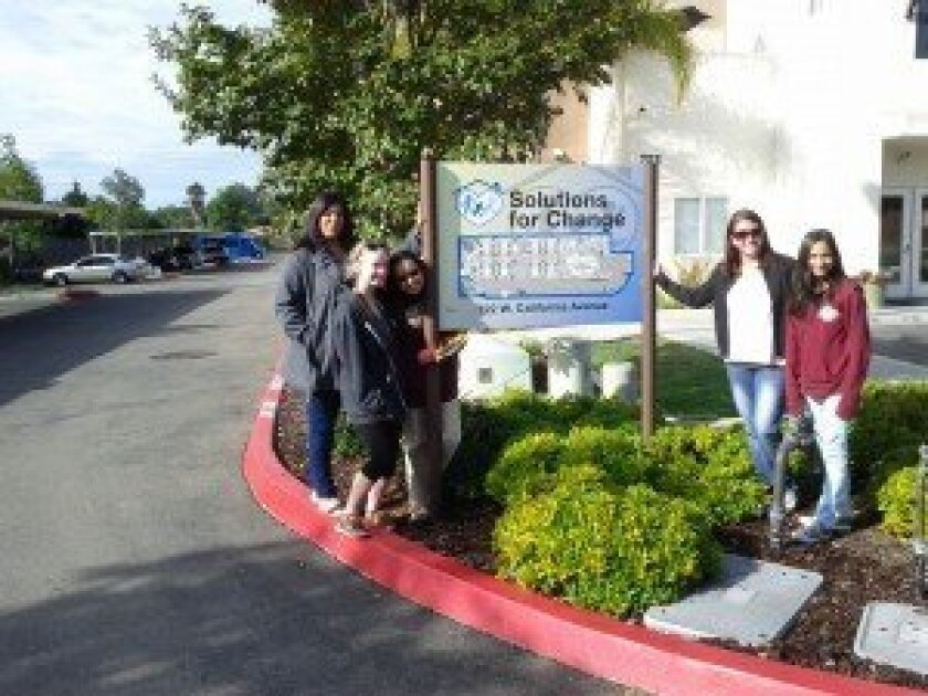 Club members at North County Solutions for Change. Courtesy photo