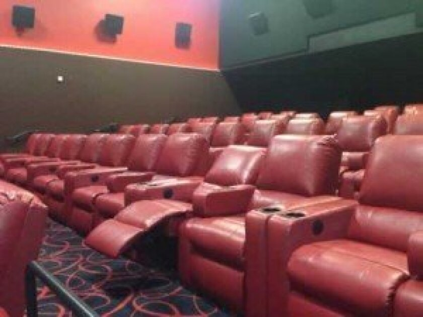 Recliner seats are among the new features at AMC Theatres La Jolla 12 following a major renovation.