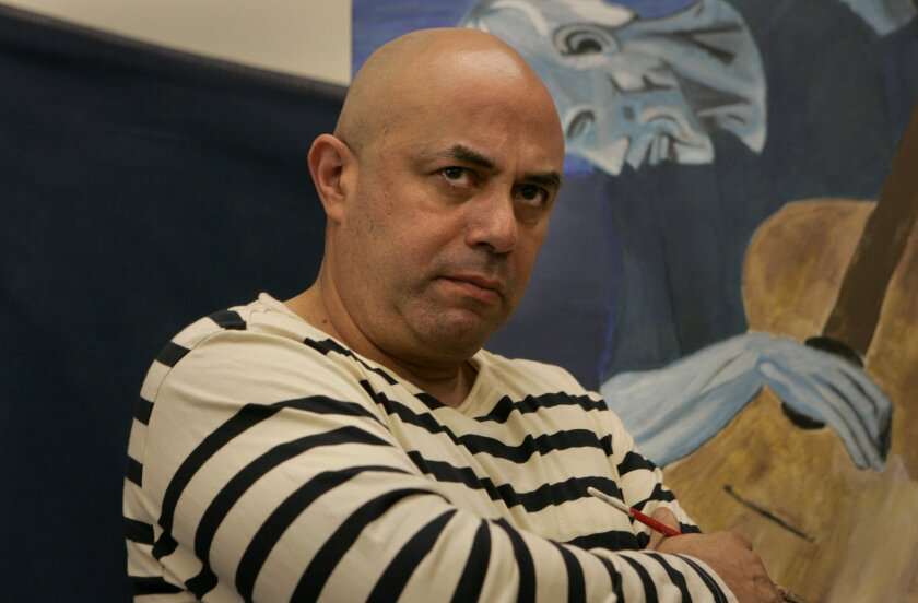 """Herbert Siguenza (photographed during the initial 2010 workshop staging of """"A Weekend With Pablo Picasso"""") will bring the solo show back to San Diego Rep as a full production in the theater's 2013-14 season."""