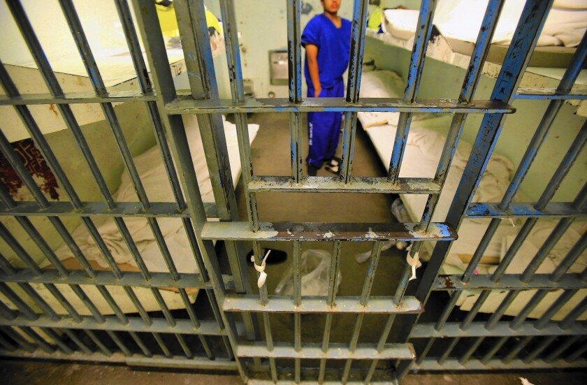 An inmate at Men's Central Jail. A San Diego court has ruled that Prop. 47 also applies to juvenile offenders.