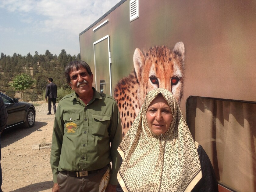 Retired game warden Bahman Najafi and his wife, Fateme Mo'tamedpour, have traveled across Iran in a mobile home to raise awareness of the imperiled Iranian cheetah.