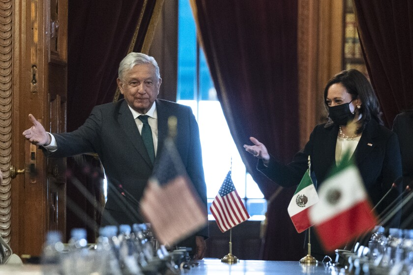 Harris meets with Mexico's president, declares 'new era' - Los Angeles Times
