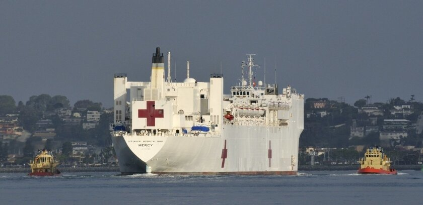Navy hospital ship Mercy departs May 3 on its 2012 Pacific Partnership mission.