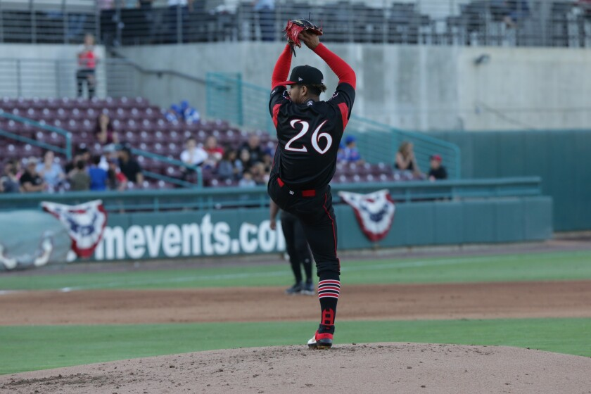 Padres pitching prospect Luis Patino started the 2019 season at high Single-A Lake Elsinore.