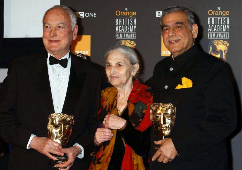 FILE File photo dated Feb.24 2002, of from left :- James Ivory, Ruth Pravel Jhabvala and Ismail Me