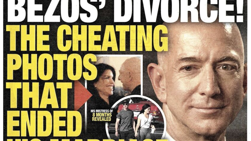 This image shows the front page of the Jan. 28, 2019, edition of the National Enquirer featuring a s