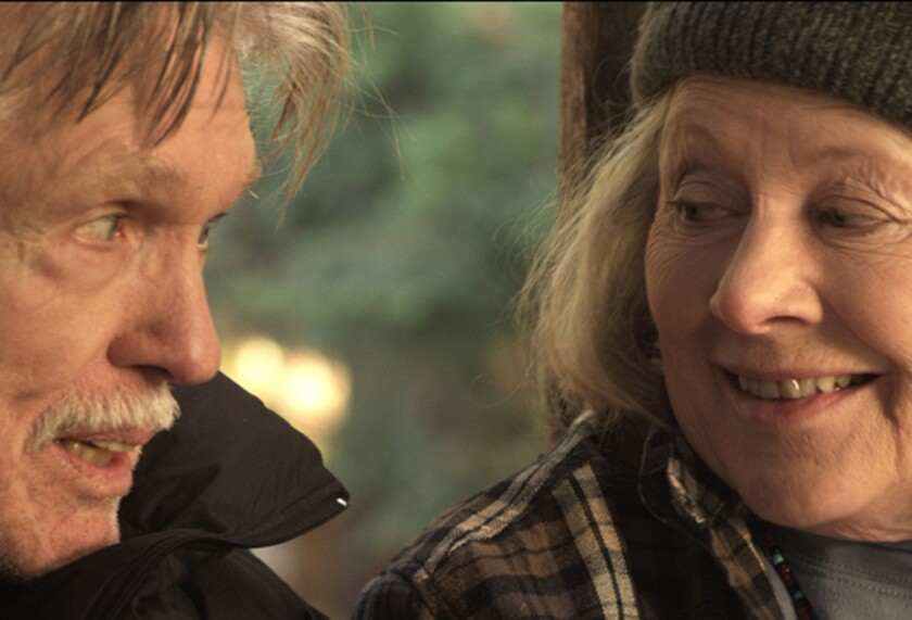 """Tom Skerritt and Shirley Knight in the film """"Redwood Highway."""""""