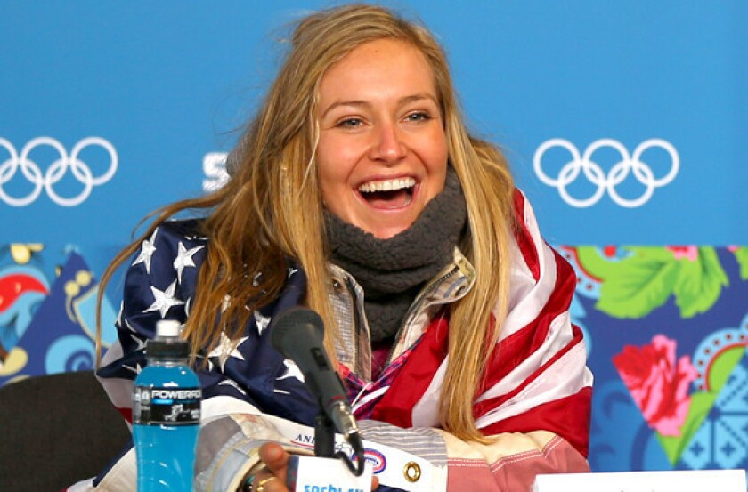 Jamie Anderson completes gold-medal sweep for U.S. in slopestyle
