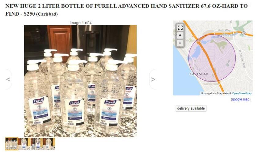Purell Pops Up On Craigslist For 250 Per Bottle As Prosecutors