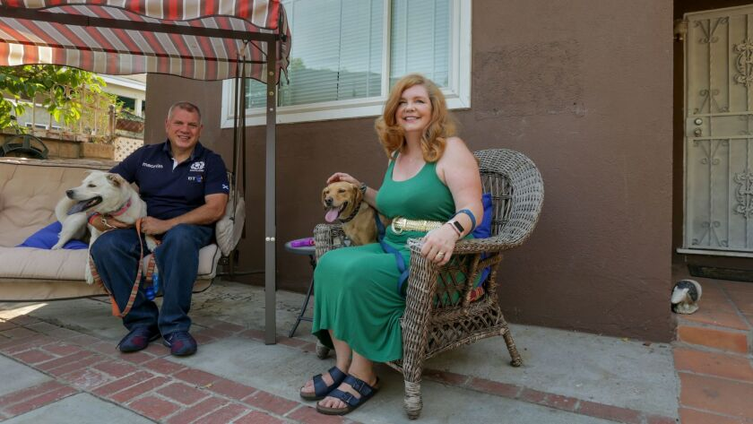 Steve and Rebekah Adams enjoy their new home in Pacoima.