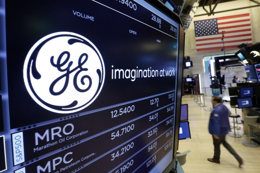 GE at the NYSE