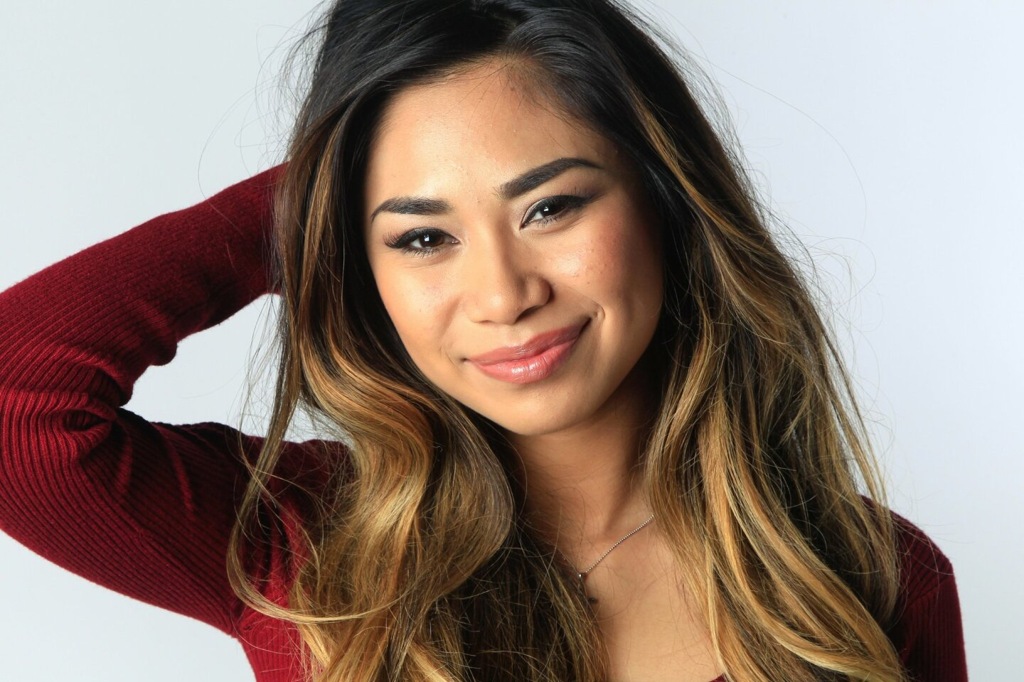 Jessica Sanchez at the UT w/ M&M's