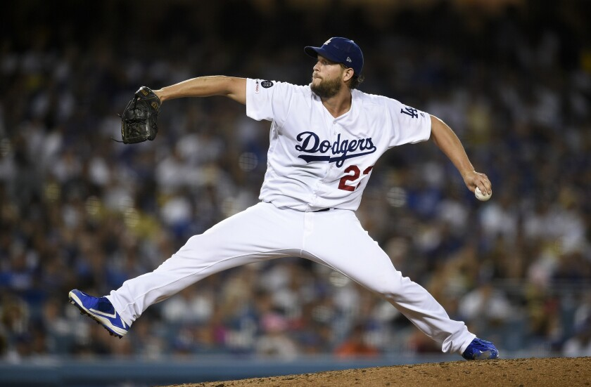 Dodgers starter Clayton Kershaw delivers during the fifth inning of a 5-4 loss to the San Francisco Giants on Friday.