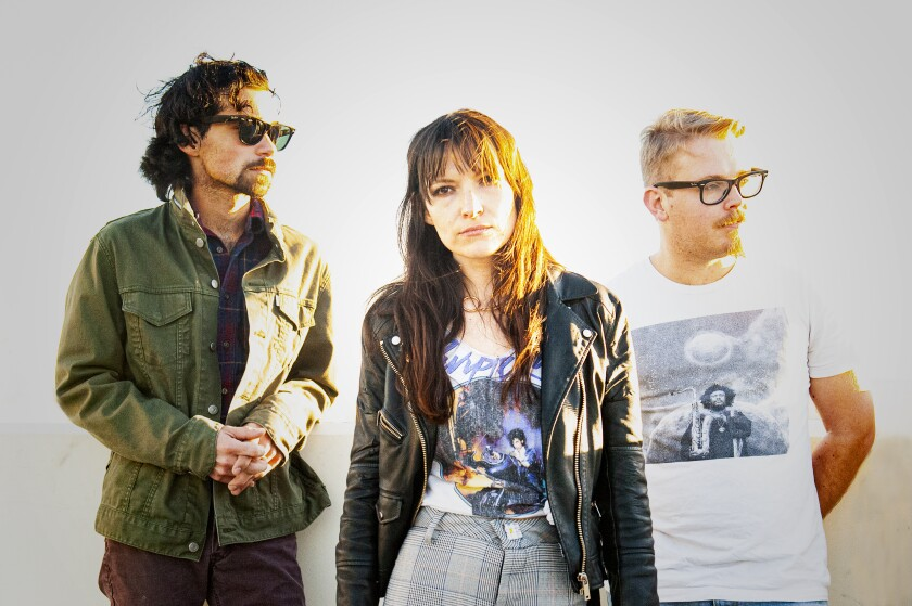 Aimee Jacobs (center) formed Belladon in 2017. She met the rest of her current bandmates through San Diego Music and Art Cooperative.