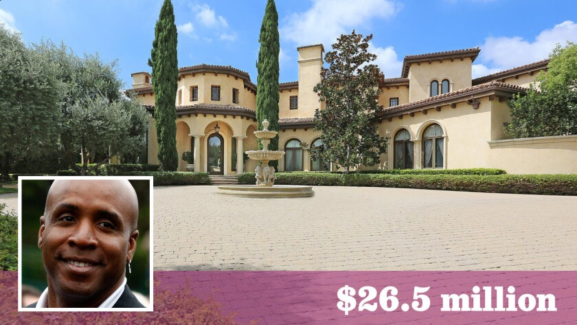 The former Beverly Park home of ex-San Francisco Giants star Barry Bonds has sold for $26.5 million, up $4.5 million from when the retired slugger sold it in 2014.