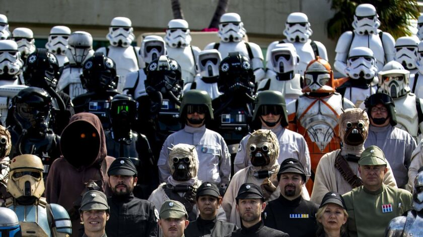 SAN DIEGO, CALIF. - JULY 21: Members of the 501st Legion cosplaying as Imperial officers on the thir