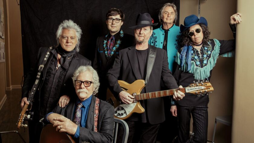(L-R) Marty Stuart(and his band, the Fabulous Superlatives), Chris Hillman(seated) and Roger McGuinn