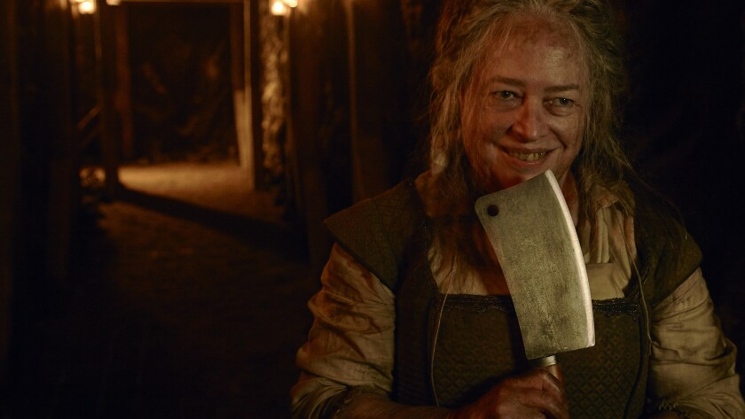 "Kathy Bates as Butcher from ""American Horror Story- Roanoke"""