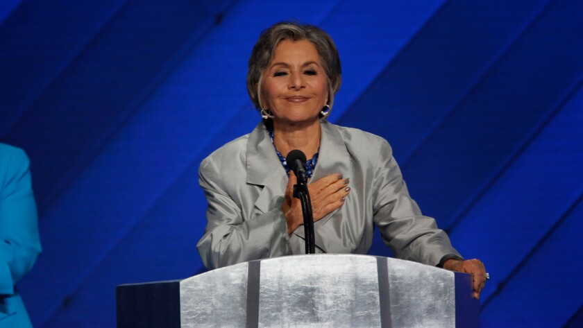 Senator Barbara Boxer addresses the delegates at the Democratic National Convention on July 28. Boxer announced Thursday she is donating her congressional papers to UC Berkeley.