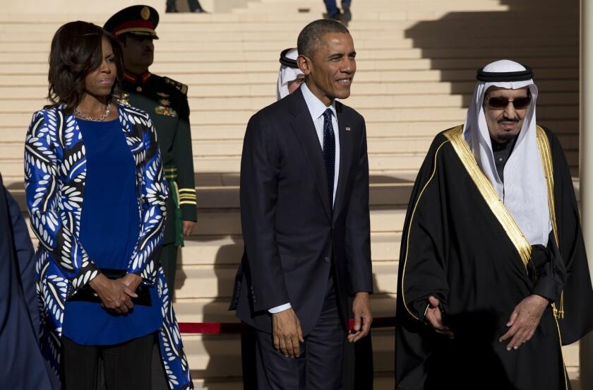 Barack Obama, Michelle Obama, Salman bin Abdul Aziz