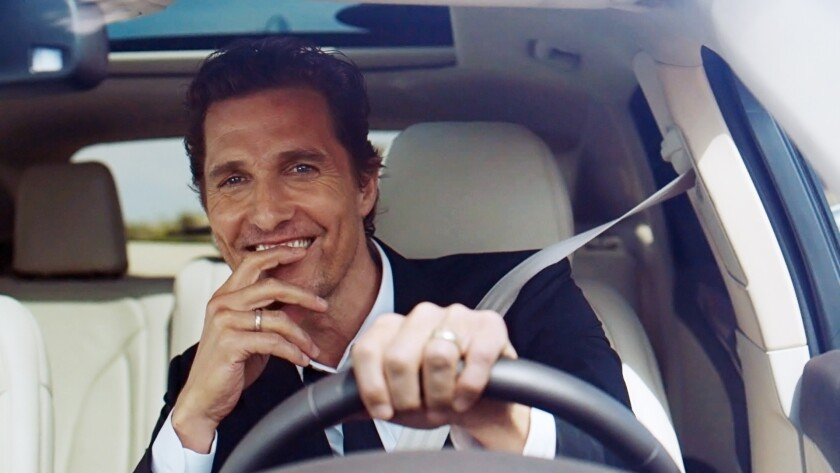 The Lincoln Motor Company announced Thursday that Oscar-winner Matthew McConaughey will be the company's spokesman for the next two years.