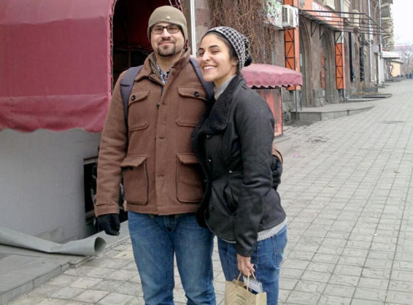 A young newlywed couple, Allen Yekikian, left, and Sose Thomassian, died May 10 in a car crash in the country of Georgia. The two, well-known in the Armenian community locally and abroad, had moved to Armenia earlier this year. An environmental group and a memorial foundation aim to plant 50,000 trees in their honor in Armenia.