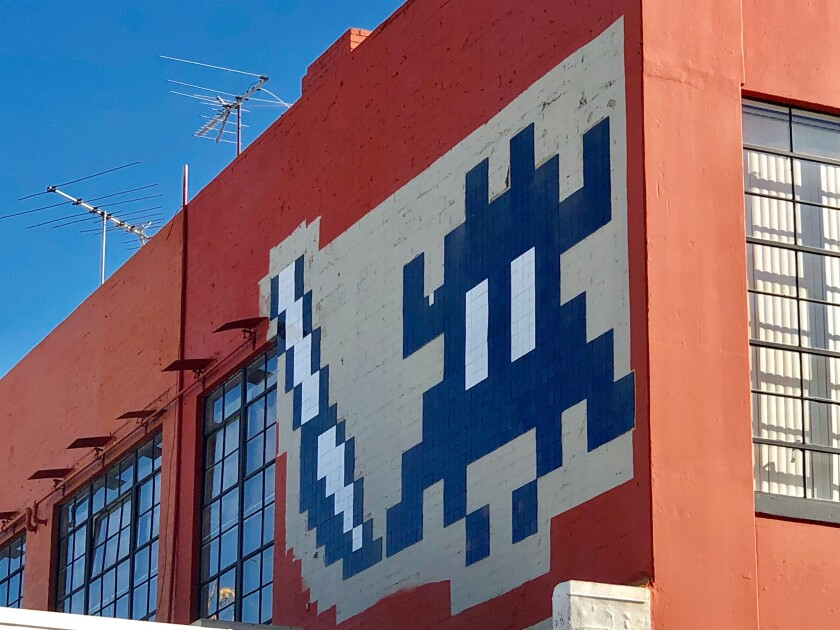 Spaceship art by Invader closeup.jpg