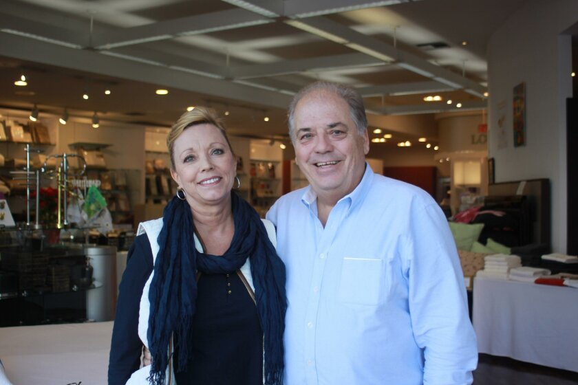Nicki and Phil Coller in the Everett Stunz store, which has been open for 54 years so far in the Village of La Jolla.