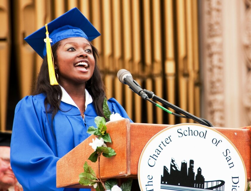 """Current """"American Idol"""" contestant Loren Lott sang at her 2010 graduation from The Charter School of San Diego."""