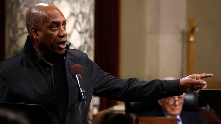 LOS ANGELES, CA - JANAUARY 27, 2018 - Actor Joe Morton, as Deep Throat, performs a scene in The Foun