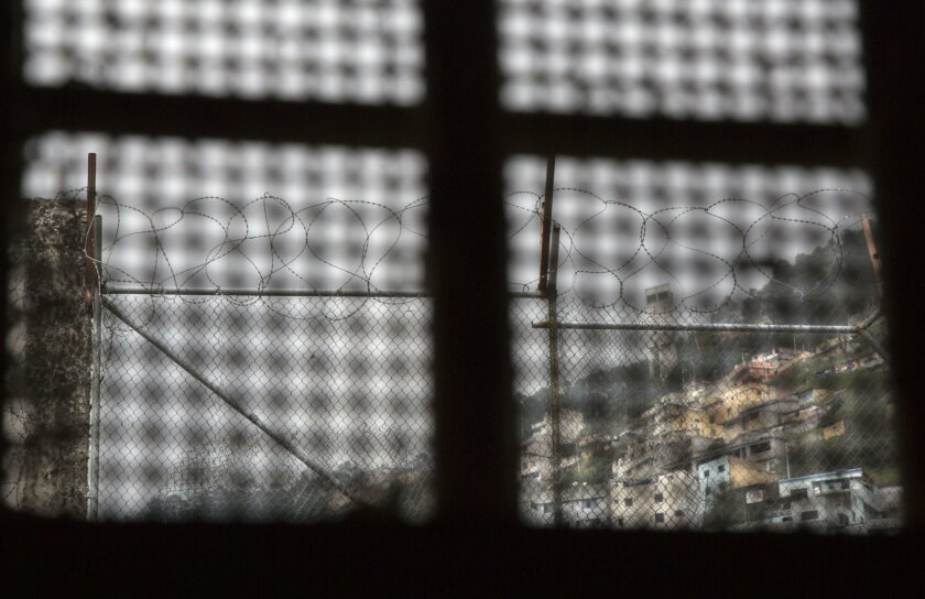 This April 14, 2015 photo shows the view a prisoner had from the window inside his cell, at the now empty Garcia Moreno Prison during a guided tour for the public in Quito, Ecuador. While its high walls separated the prisoners from society outside, they made and respected their own laws, and their