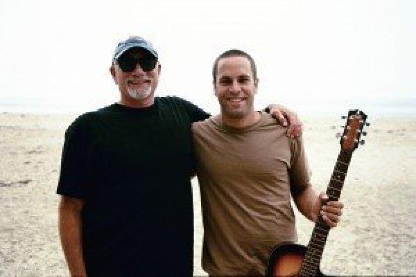 Ira Opper and Jack Johnson (right), who starred in Opper's 'Kokua.' Photo/Greg Huglin