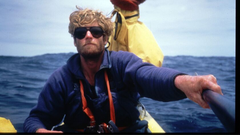 """Self-portrait of Ed Gillet taken on day 45 of his dCalifornia-to-Hawaii solo sea kayak adventure. His story is told in the new book """"The Pacific Alone"""" by Dave Shively."""