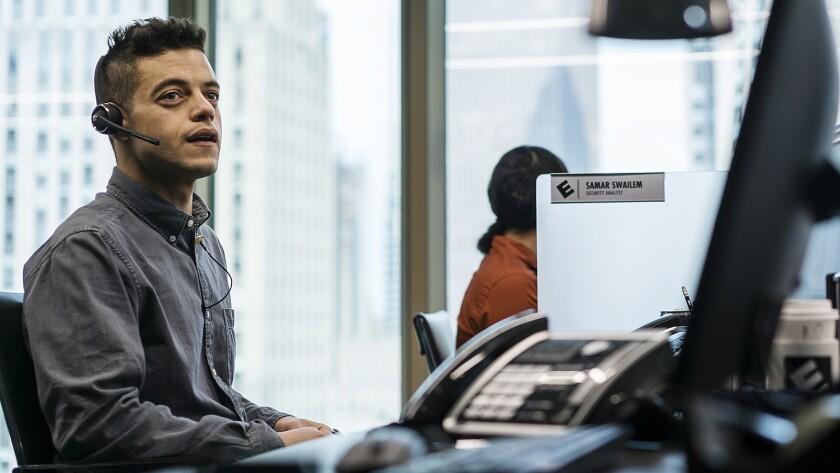 "Rami Malek in ""Mr. Robot"" on USA."