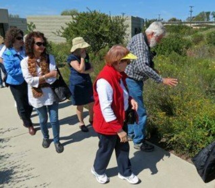 Walkabout International's Walter Konopka Jr. leads a walk and gives a naturalist lecture at the Tijuana River Estuary Visitor Center in National City with Dr. Pat Peterson at his side. Courtesy photo