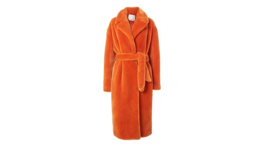Tibi. Faux Fur coats for Image section essentials.