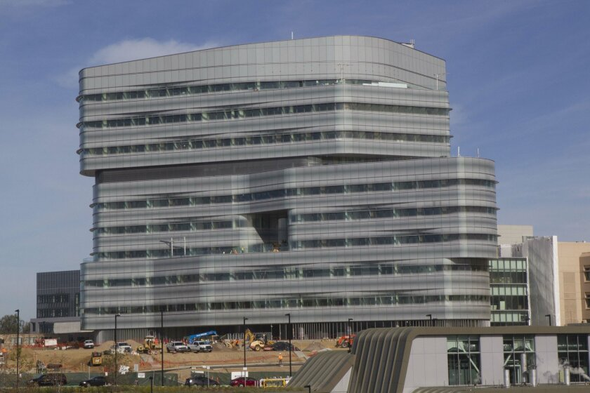 The Jacobs Medical Center is slated to open in October or November of this year. / photo by John Gibbins * U-T