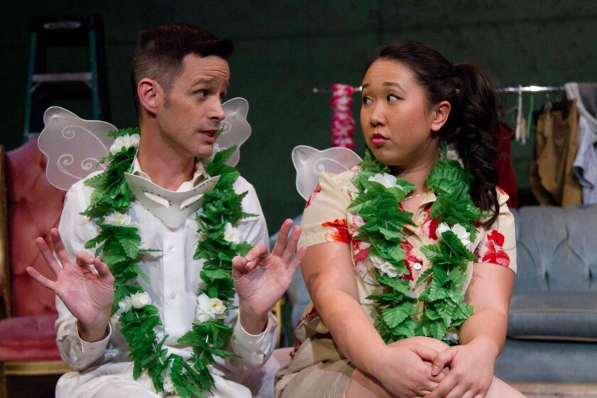 "Emerson Collins and Cindy Nguyen in ""The $5 Shakespeare Company"" by Matthew Leavitt"